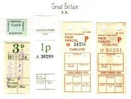 GREAT BRITAIN, Railway Parcels, */o M/U, F/VF - Local Issues