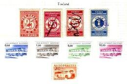 FINLAND, Bus Parcels, */o M/U, F/VF - Finland