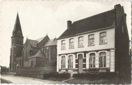 6Rm-387: Pastorij En Kerk, Hulse, Balen... De Postzegel Is Weggenomen.. - Balen