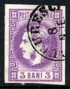 ROMANIA 1868 Prince Carol 3 B. Violet,  Used.   Michel 18 - 1858-1880 Moldavia & Principality
