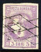 ROMANIA 1868 Prince Carol 3 B. Mauve,  Used.   Michel 18 - 1858-1880 Moldavia & Principality