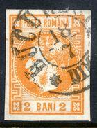 ROMANIA 1868 Prince Carol 2 B. Yellow-orange,  Used.   Michel 17 - 1858-1880 Moldavia & Principality