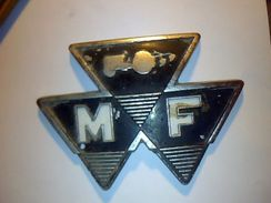 Plaque En Metal Ancienne  Tracteur  Massey Fergusson - Publicidad