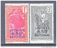 MADAGASCAR   B 11-12    *    VICHY - Unused Stamps