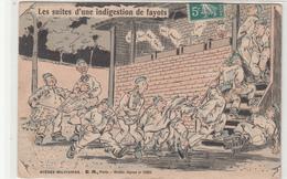 CPA- Les Suites D'une Indigestion De Fayots-2scans TBE - Humour