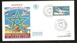FDC  FOIRE  INTERNATIONALE DE CASABLANCA - Marruecos (1956-...)