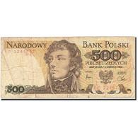 Pologne, 500 Zlotych, 1974-1976, 1982-06-01, KM:145d, B - Pologne
