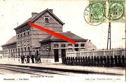 BLANMONT- La Gare - (intérieur) - Circulée En 1906 - Chastre