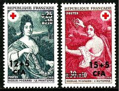 REUNION CFA 1968 N° 381-382 * * Neufs Lot - 548 - Réunion (1852-1975)