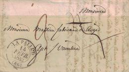 VAUCLUSE - LA PALUD - T13 - DU 14 FEVRIER 1842 - TEXTE COMMANDE DE CIERGES AVEC SIGNATURE DU CURE DE LAPALUD ( P1) - Marcophilie (Lettres)