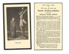 Z 208.  Zuster MARIA - JOZEFA  (Maria SMETS) - °ST-TRUIDEN 1893 / GENT / + ANTWERPEN 1936 - Images Religieuses