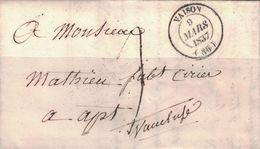 VAUCLUSE - VAISON - T14 - DU 9 MARS 1937 - TEXTE  AVEC SIGNATURE ( P1) - Marcophilie (Lettres)