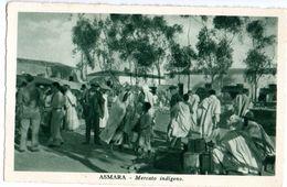 ASMARA - MERCATO INDIGENO - ANIMATA - ED.CARTOLERIA A.O MASSAU - NVG FP - C155 - Eritrea