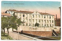 CARTOLINA GENOVA - PRA' - L'EDIFICIO SCOLASTICO , 1933  . - Genova (Genoa)