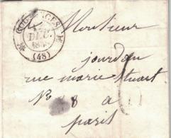 MANCHE - COUTANCES - T12 - DU 18 DECEMBRE 1838 - TEXTE  AVEC SIGNATURE EDOUARD TISSOT ARQUEBUSIER ( P1) - Marcophilie (Lettres)