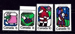 Canada 625-28 MNH 1973 Christmas - Canada