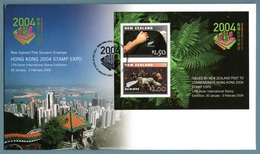 NEW ZEALAND 2004 Hong Kong 2004 Stamp Exhibition: Official First Day Cover CANCELLED - Rugby