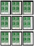 L016N°1807 - 0,60 Vert Marianne De BEQUET Avec Et Sans Phospho - Lot De 10 Coins Datés ** - 1970-1979