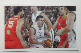 Slovenia Basketball Cards  Stickers Nr. 73 Sani Becirovic Opening Sport Hall Stozice Ljubljana Slovenia Spain - Stickers
