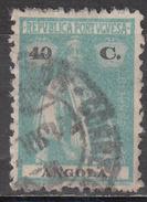 ANGOLA     SCOTT NO. 158W    USED    YEAR  1921 - Angola