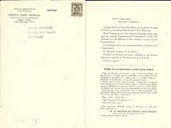 BRUXELLES (1150) : Institut St.- Georges - Fonds Des Orphelins Belges : Prière De La Neuvaine à Saint Jean Bosco. Rare. - Announcements