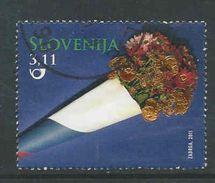 Slovenie, Yv Zegel Uit Blok 55 Jaar 2011, Hoge Waarde, Gestempeld, Zie Scan - Slovénie