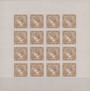 ÖSTERREICH/AUSTRIA:1933: Block Of 16 Not Dentelled Vignettes/Cinderellas -  With Glue/MNH – Brown: ## WIPA – 1933 ## - Erinnophilie