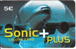 BELGIUM - Sonic+Plus Prepaid Card 5 Euro, Used - Belgique