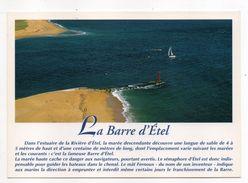 ETEL--Vue Aérienne--La Barre D'Etel  --  Phare ,  Voilier............pas Très Courante - Etel