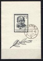 CECOSLOVACCHIA - 1957 - Death Of Pres. Antonin Zapotocky - SOUVENIR SHEET - USATO - Gebraucht