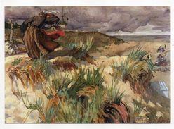 BEG MEIL--illustrateur Sigurd Fredricksen-Décor De La Salle à Manger Hotel Thalamot--Pointe Du Sémaphore....pas Courante - Beg Meil
