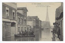 CPA Paris 15 Paris Inondé 1910 La Rue Saint-Charles à Grenelle N° 73 Noyer - Inondations De 1910