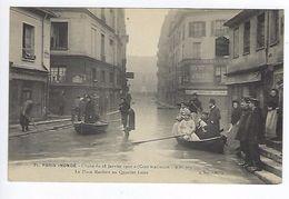 CPA Paris 5 Paris Inondé 1910 La Place Maubert Au Quartier Latin N° 71 Noyer - Inondations De 1910