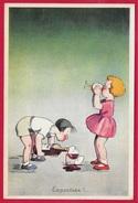 """CPA Publicitaire """"F. SENECLAUZE"""" Algérie ORAN Récolte 1931 (Vin) Pub Publicité (Quand Les Enfants Boivent...) - Publicidad"""