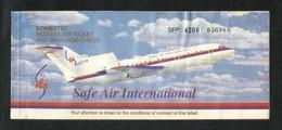 Pakistan Safe International Airline Transport Ticket UNused Passenger Ticket - Transportation Tickets