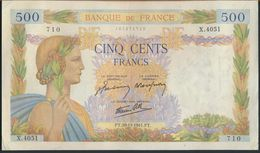 °°° FRANCE - 500 FRANCS 20/11/1941 °°° - 1871-1952 Antichi Franchi Circolanti Nel XX Secolo