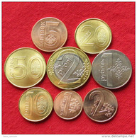Belarus Set 1 2 5 10 20 50 Kop 1 2 Rub 2009 2016 Unc - Belarus