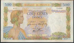 °°° FRANCE - 500 FRANCS 18/12/1941 °°° - 1871-1952 Gedurende De XXste In Omloop