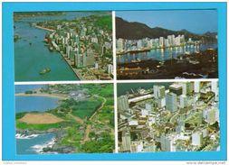 CARTE POSTALE POSTAL POSTCARD BRASIL BRAZIL ESPIRITO SANTO VITORIA AERIAL VIEW VUE AERIENNE MULTI VIEWS VUES 1970s - Vitória