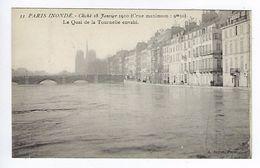 CPA Paris 5 Paris Inondé 1910 Le Quai De Tournelle Envahi N° 33 Noyer - Inondations De 1910