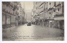 CPA Paris 5 Paris Inondé 1910 La Place Maubert N° 34 Noyer - Inondations De 1910