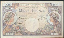 °°° FRANCE - 1000 FRANCS 24/10/1940 °°° - 1871-1952 Antiguos Francos Circulantes En El XX Siglo