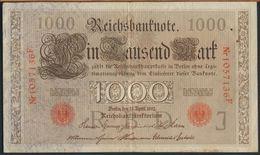°°° GERMANY - EMPIRE 1000 REICHSBANKNOTE 1910 °°° - [ 2] 1871-1918 : German Empire