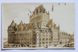 Chateau Frontenac, Quebec, Canada, 1924, Véritable Real Photo Postcard RPPC - Québec - Château Frontenac
