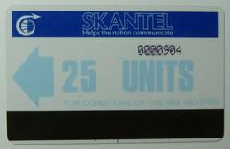 ST KITTS & NEVIS - Autelca - Skantel - 1st Issue - 1986 - STK-AU2 - 25 Units - Used - Saint Kitts & Nevis