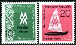 DDR - Michel 536 / 537 - ** Postfrisch (C) - 10-20Pf  Leipziger Herbstmesse 56 - [6] Oost-Duitsland