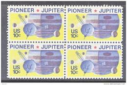 U.S. 1556 X 4  **  SPACE  PIONEER-JUPITER - United States