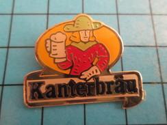 Pin313d Pin's Pins : Rare Et Belle Qualité : BIERES / LA BIRE DE MAITRE KANTER KANTERBRAU - Beer
