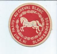 Blankenberge,au Cheval Blanc,sous Bocks Ayant été Utilisé Comme Carte Postale,pub Welta Et Rex - Sous-bocks