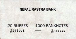 NEPAL RUPEES-20 BANKNOTE LABEL 2000/2001 AD USED/GOOD - Billets